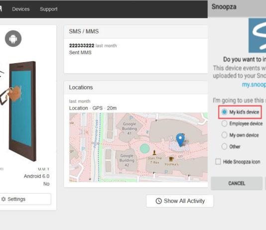 monitoring software to track Snoopza